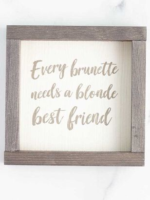 Brunette Blonde Best Friend Wall Art - Altar'd State