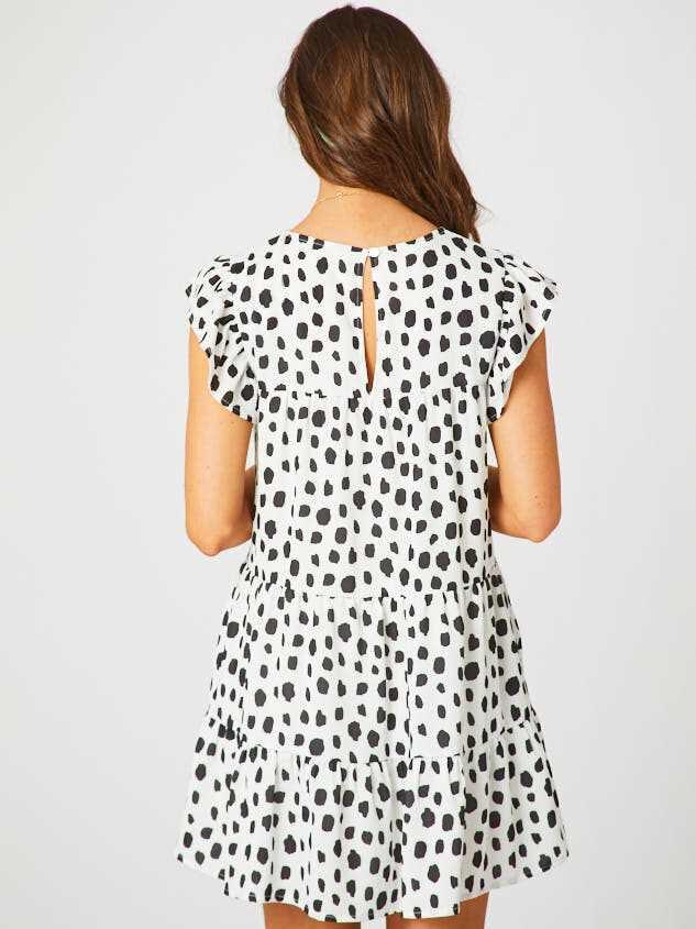 Dalmatian Tiered Dress Detail 3 - Altar'd State