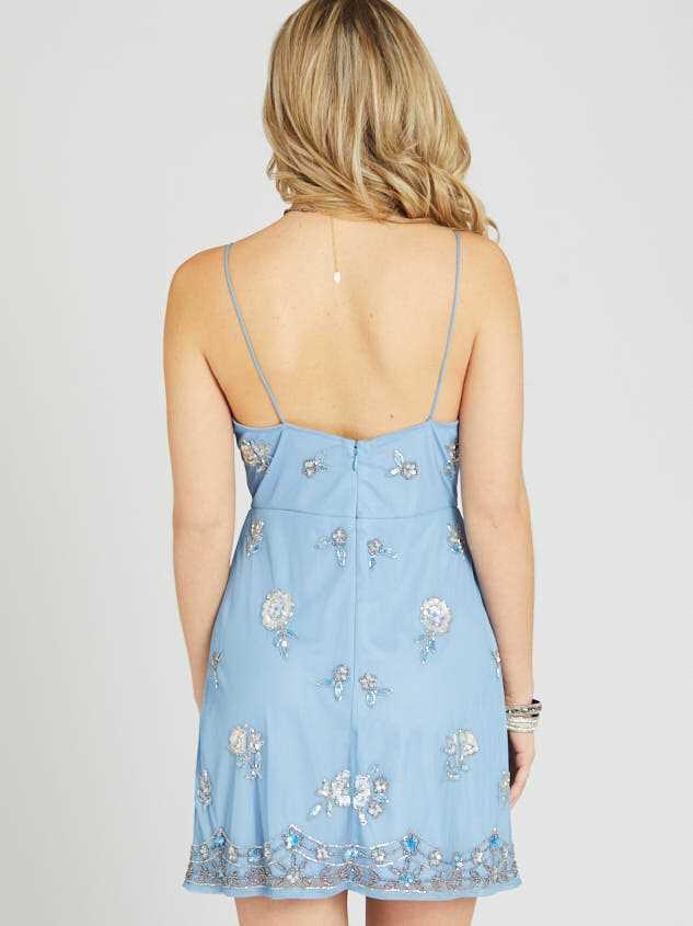 Grace Dress - Light Blue Detail 4 - Altar'd State