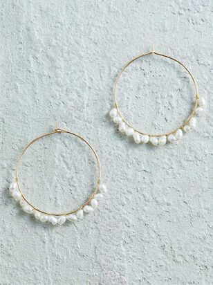 Pearl Wrapped Hoop Earrings - Altar'd State