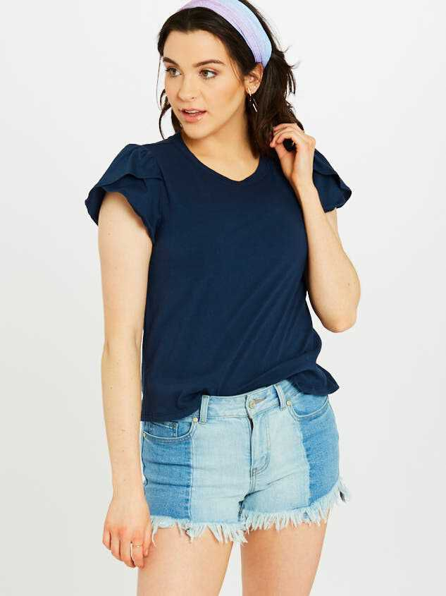 Two Tone Denim Shorts - Altar'd State