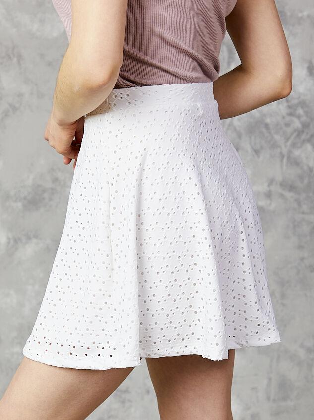 One & Only Eyelet Skirt Detail 3 - Altar'd State