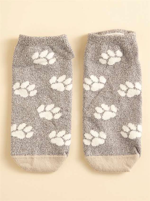 Paw Print Dog Mom Socks Detail 2 - Altar'd State
