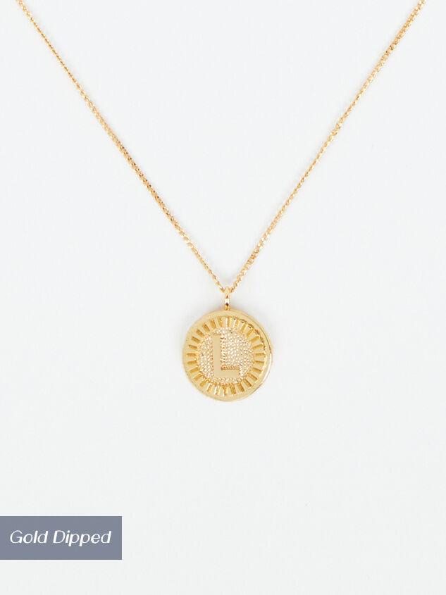 Medallion Monogram Necklace - L - Altar'd State