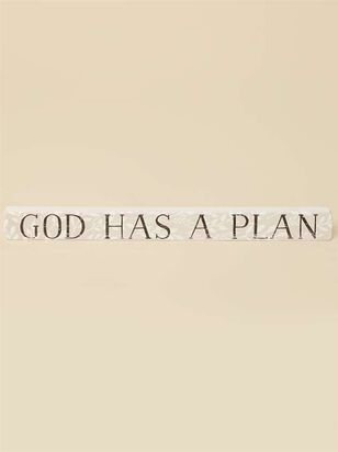 God Has a Plan Block Sign - Altar'd State