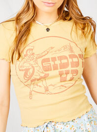 Giddy Up Baby Tee Detail 4 - Altar'd State