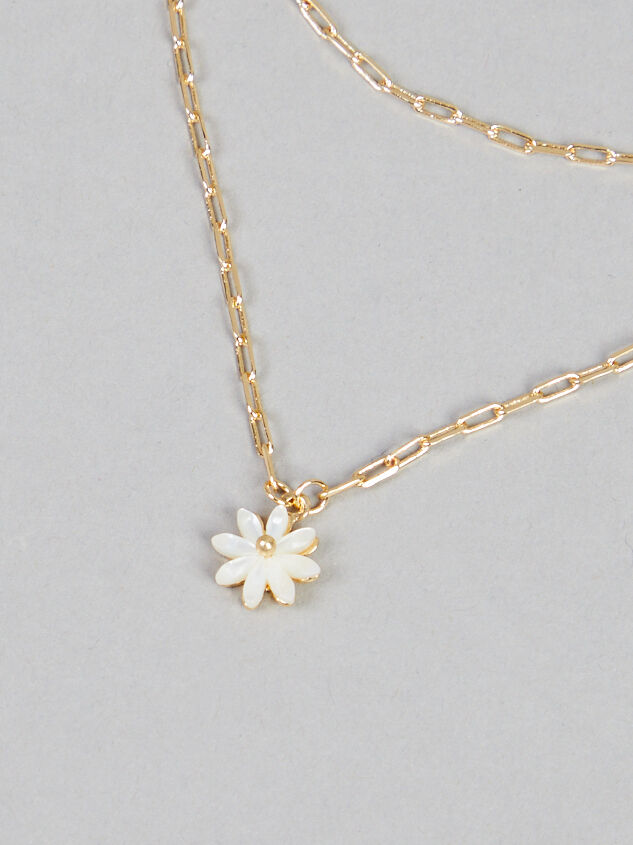 Daisy Paperclip Layer Necklace - Altar'd State