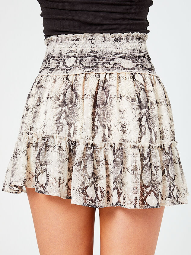 Snakeskin Tiered Skirt Detail 4 - Altar'd State