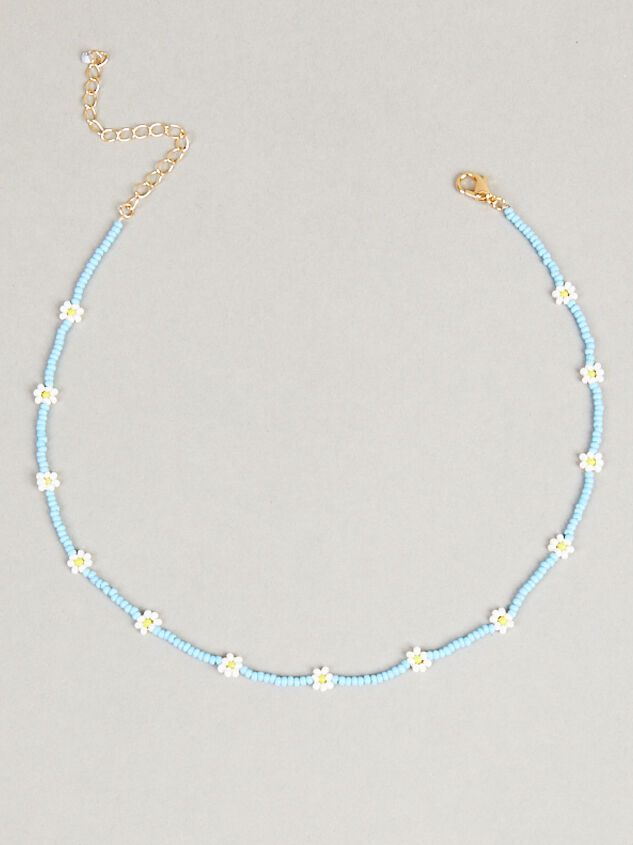 Blue Daisies Choker Necklace - Altar'd State