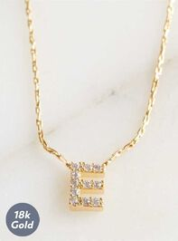 Rhinestone Initial Necklace – E Detail 2 - Altar'd State