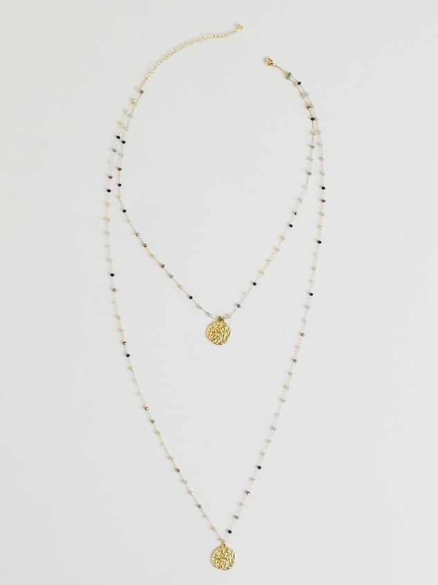 Harmoni Necklace - Dusty Blue - Altar'd State