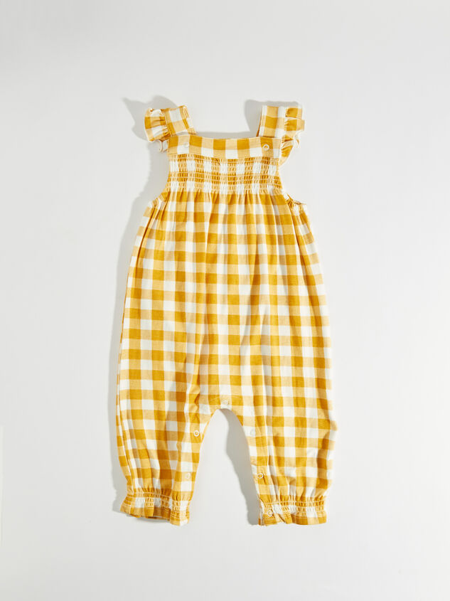 Tullabee Yellow Gingham Coverall - Altar'd State