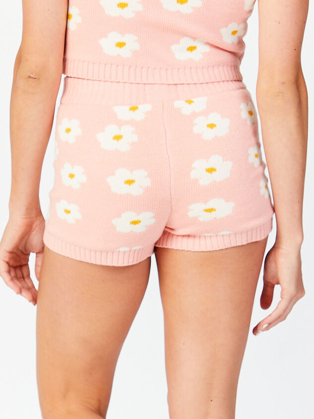 Daisy Sweater Lounge Shorts Detail 2 - Altar'd State