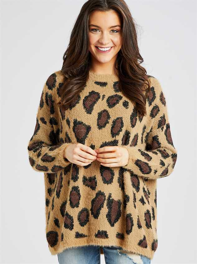 Leopard Pullover Sweater - Altar'd State