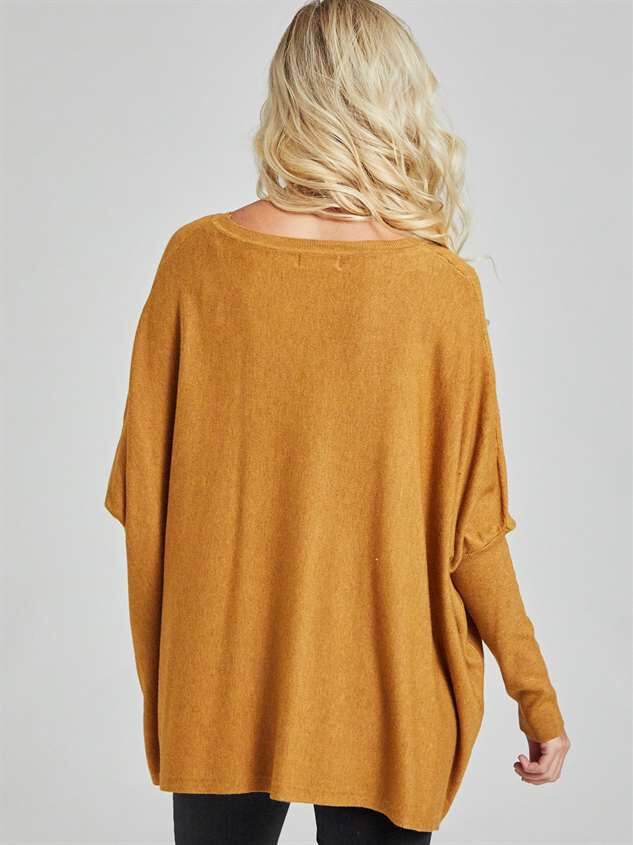 Cozy Comfort Pullover Sweater Detail 4 - Altar'd State