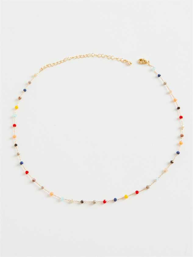 James Necklace - Red Multi - Altar'd State