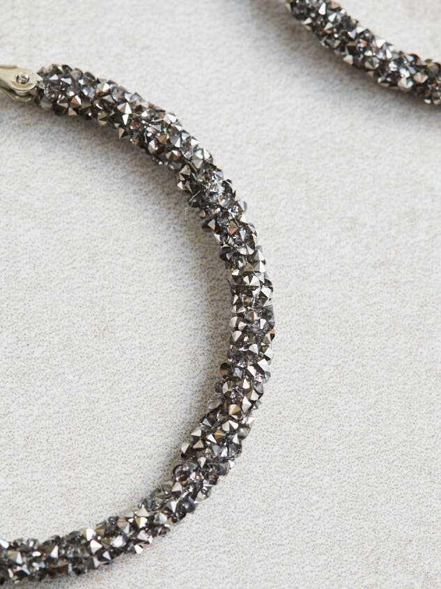 Rock Paper Wrapped Hoop Earrings Detail 2 - Altar'd State
