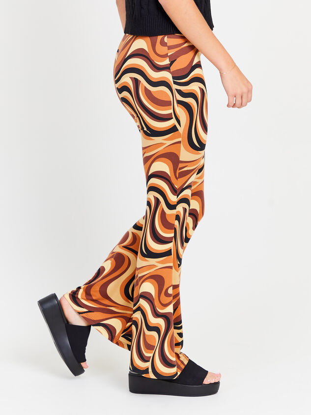 Retro Swirl Flare Pants Detail 2 - Altar'd State