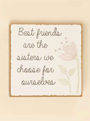 Best Friends are Sisters Block Sign - Altar'd State