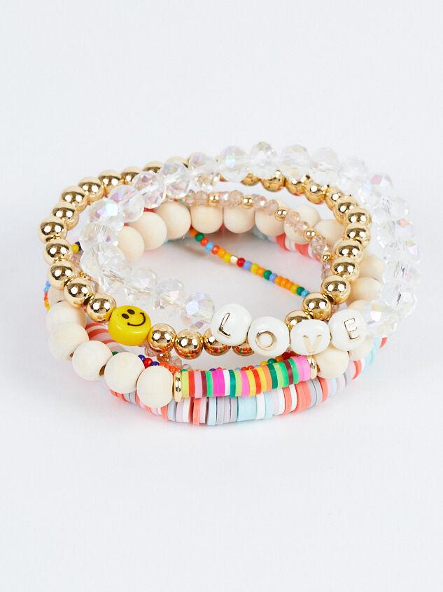 Love & Smiles Bracelet Set Detail 2 - Altar'd State