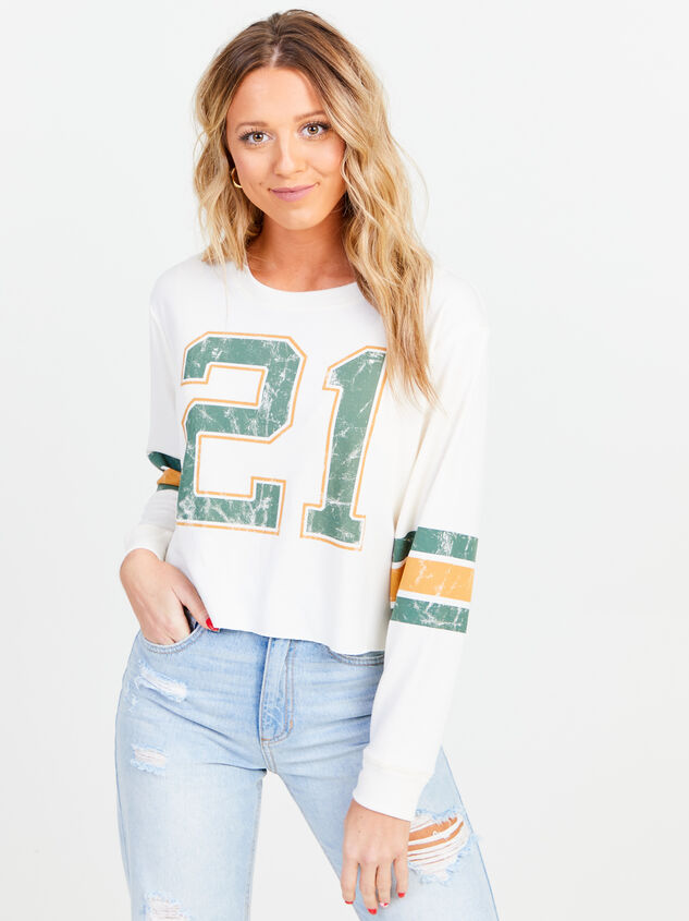 Jersey Cropped Long Sleeve Tee - Altar'd State
