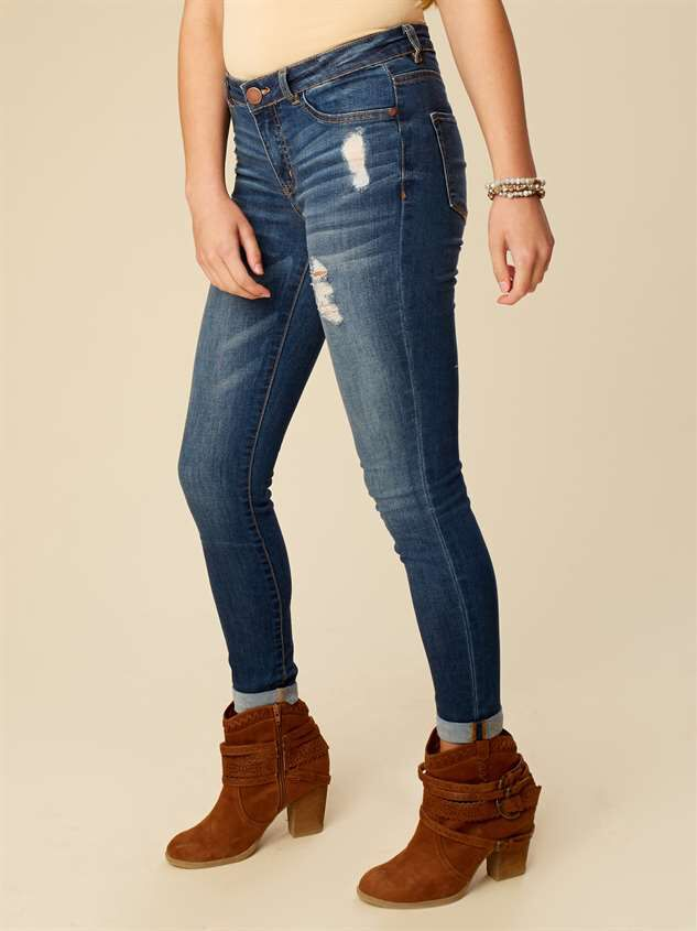 Hadley Cuffed Wash Jeans Detail 2 - Altar'd State