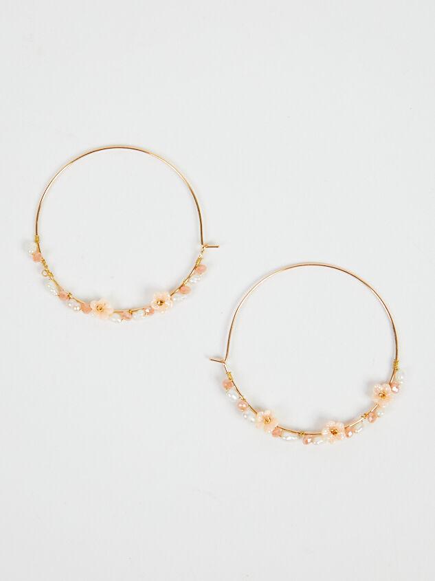 Dahlia Hoop Earrings - Blush Detail 3 - Altar'd State