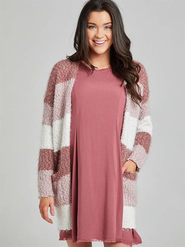 Lovely Lash Color Block Cardigan Sweater Detail 2 - Altar'd State