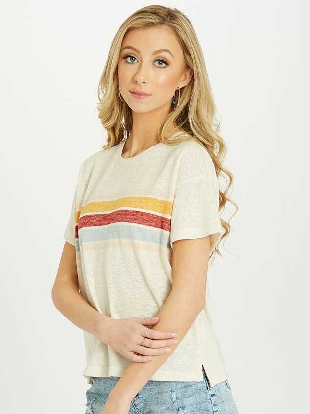 The Retro Stripe Tee Detail 2 - Altar'd State