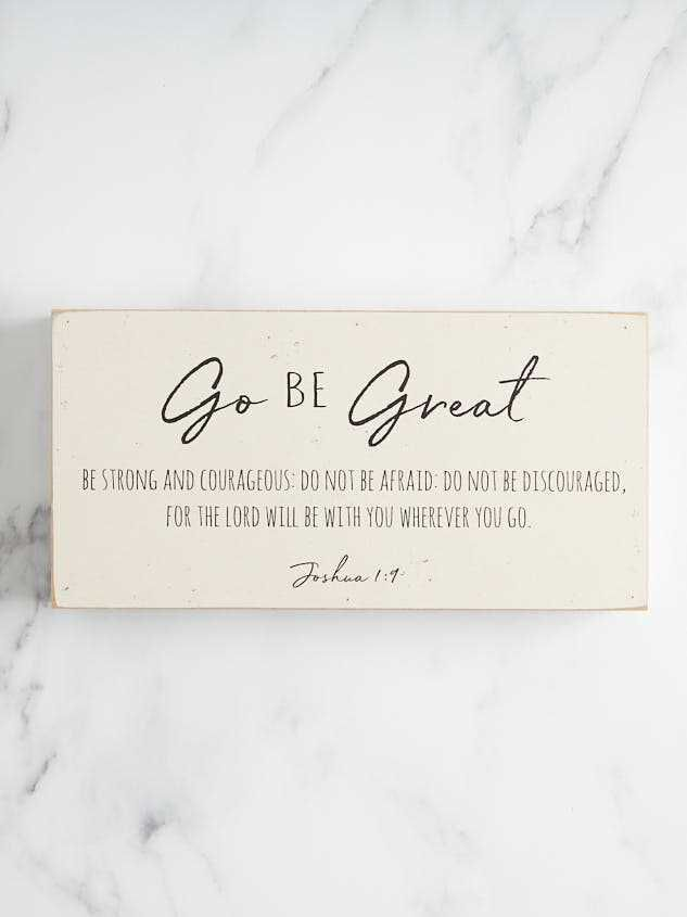 Go Be Great Box Sign - Altar'd State