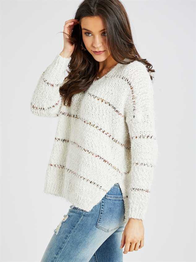 Lovely Lash Spiced Striped Pullover Sweater Detail 2 - Altar'd State