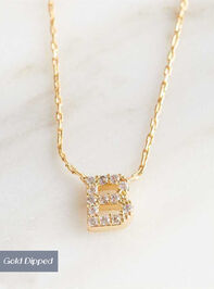 Rhinestone Initial Necklace – B - Altar'd State