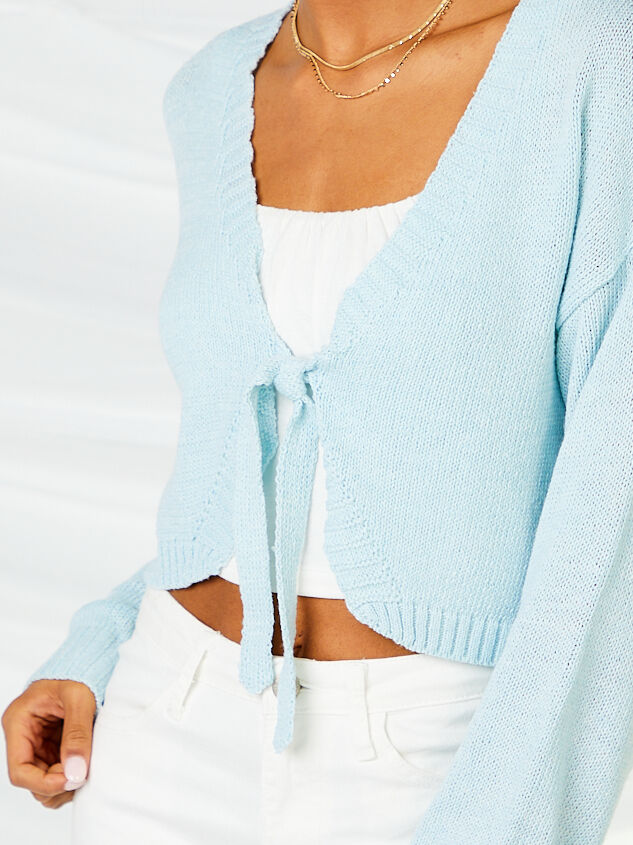 Tie Front Cropped Cardigan Detail 4 - Altar'd State
