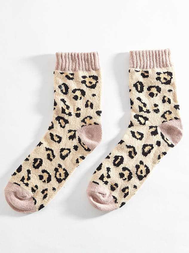 Blush Leopard Crew Socks - Altar'd State