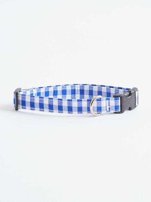 Bear & Ollie's Blue Gingham Dog Collar - Altar'd State