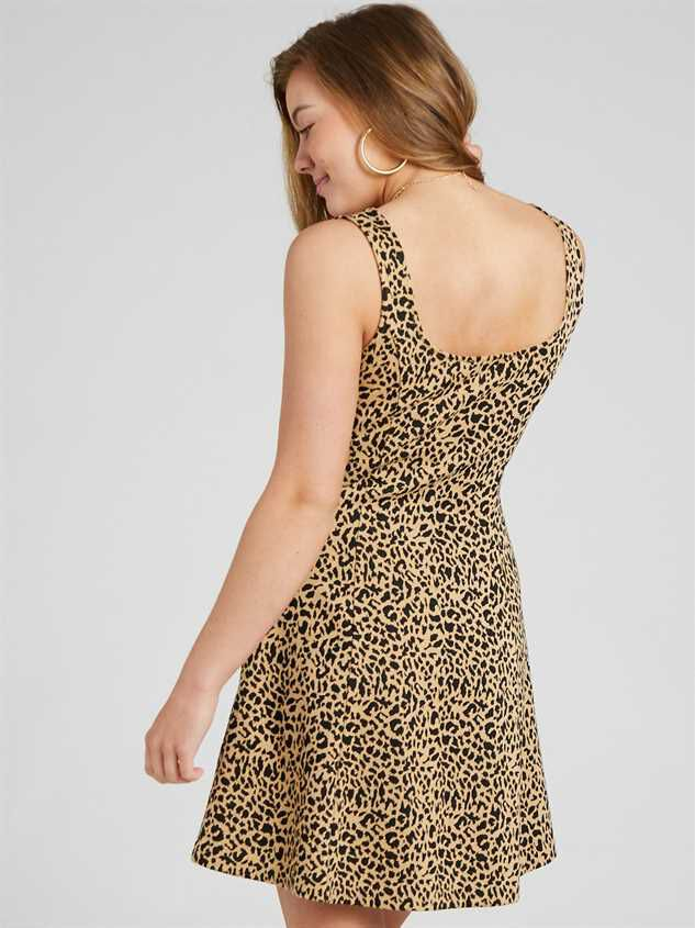 Lula Leopard Dress Detail 4 - Altar'd State