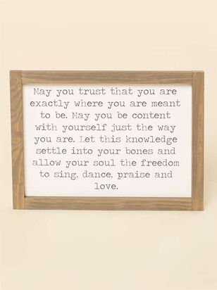 May You Trust Wall Art - Altar'd State