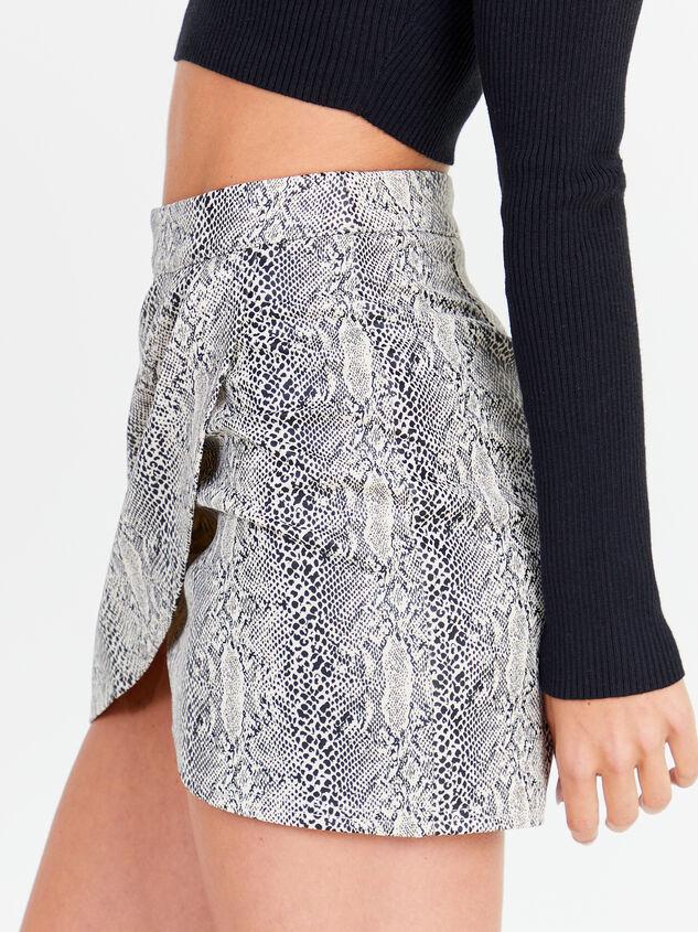 Shae Snakeskin Skirt Detail 3 - Altar'd State