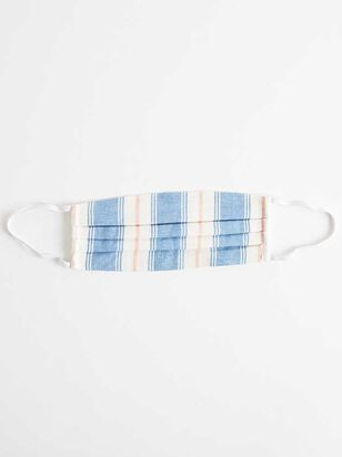 Striped Cotton Linen Face Mask - Altar'd State