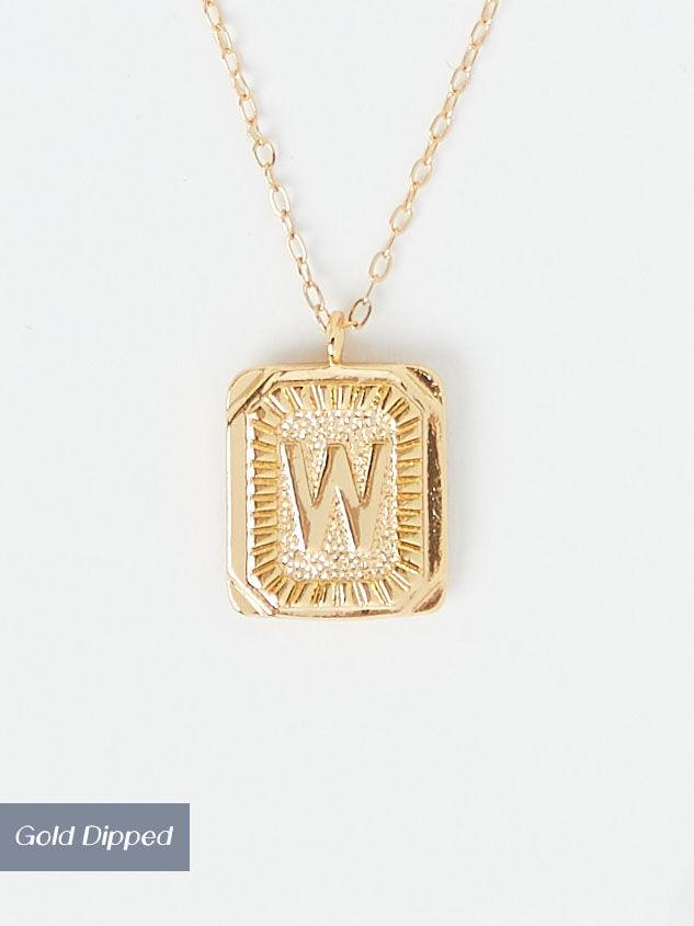 Burst Tag Monogram Necklace - W - Altar'd State