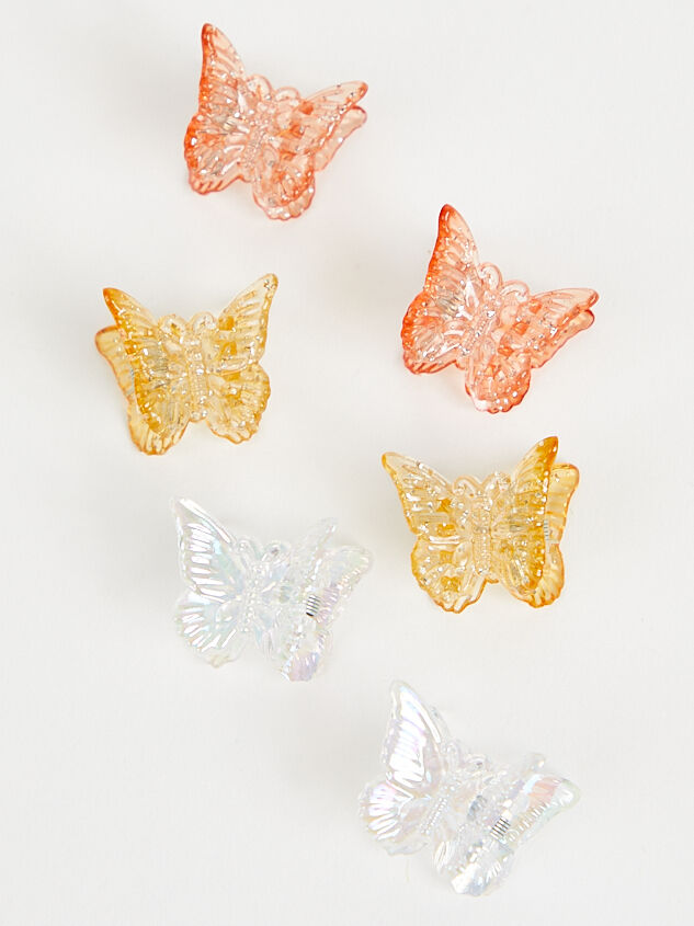 Butterfly Hair Clips - Nude Multi - Altar'd State