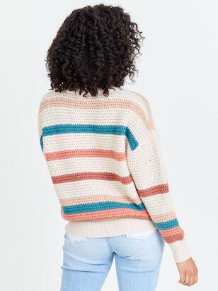 Rainbow Crochet Pullover - Altar'd State