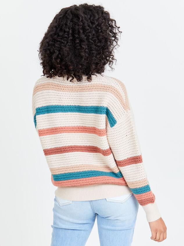 Rainbow Crochet Pullover Detail 2 - Altar'd State