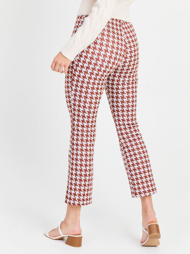 Houndstooth Kick Flare Pants Detail 3 - Altar'd State