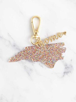 Home Glitter Keychain - North Carolina - Altar'd State