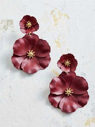 Flower Power Earrings - Burgundy - Altar'd State