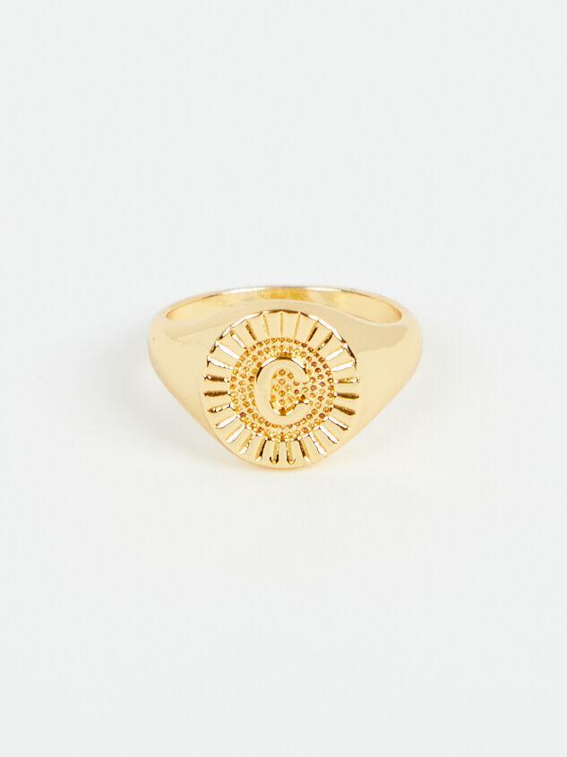 Sunburst Monogram Ring - C - Altar'd State