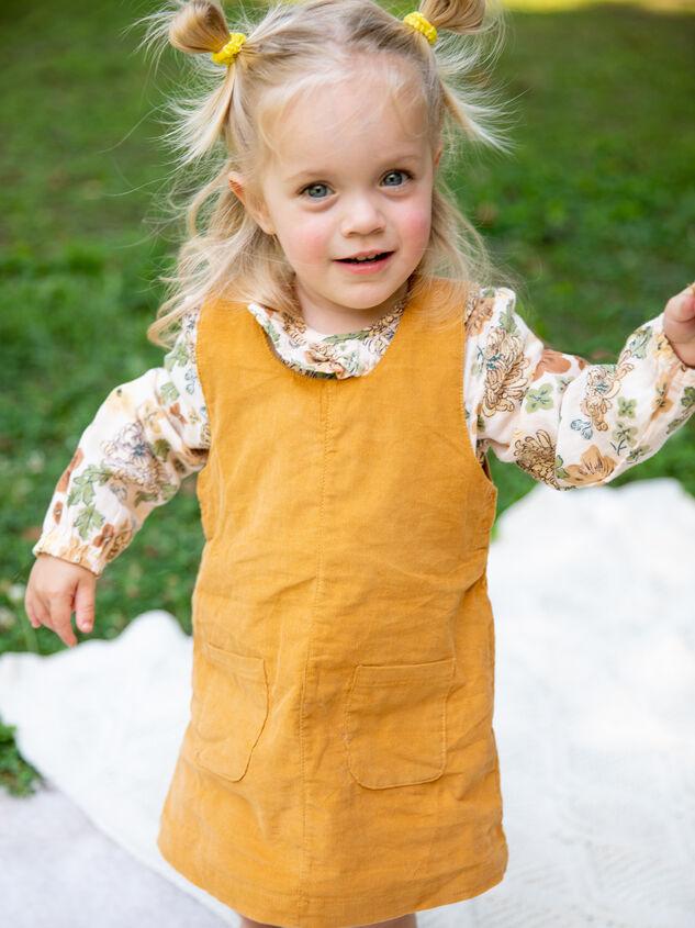 Tullabee Corduroy Dress & Bloomer Set Detail 4 - Altar'd State