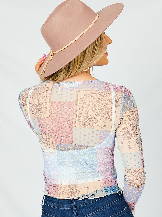 Patchwork Mesh Top - Lilac Detail 2 - Altar'd State