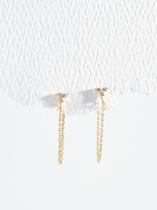 The Demi Fine - Adela Dainty Hoops - Altar'd State